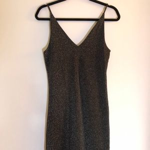 Grey Shimmer Sexy Cocktail Club Dress